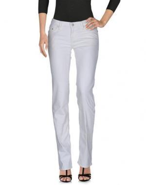 Джинсовые брюки SEVEN7. Цвет: слоновая кость