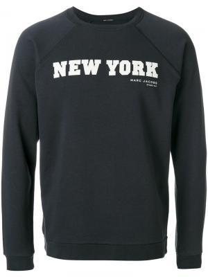 Толстовка new york Marc Jacobs. Цвет: синий