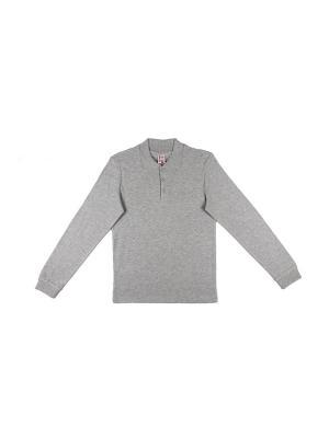 Рубашка-поло для мальчика Cherubino. Цвет: серый меланж