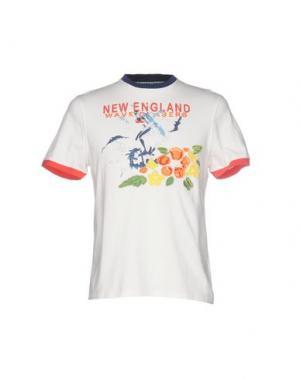 Футболка NEW ENGLAND. Цвет: слоновая кость