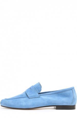 Лоферы из мягкой замши Moka Da Due. Цвет: голубой