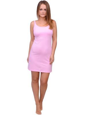 Ночная сорочка Flammber. Цвет: розовый