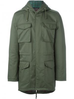 Куртка в стиле милитари Daniele Alessandrini. Цвет: зелёный
