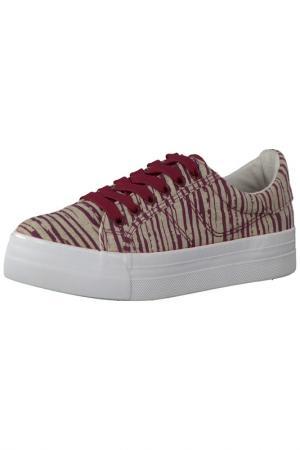 Ботинки Tamaris. Цвет: красный, бежевый