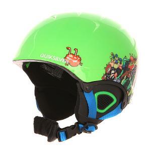 Шлем для сноуборда детский  Game Green Gecko Quiksilver. Цвет: зеленый
