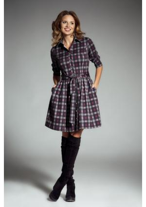 Платье MY STYLE. Цвет: пурпурный (пурпурный), серый (серо-малиновый)