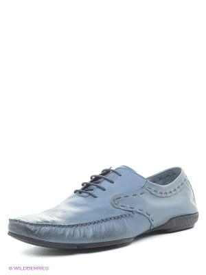 Мокасины Spur. Цвет: серо-голубой