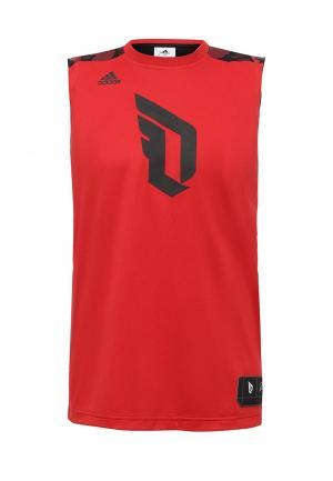 Майка adidas Performance. Цвет: красный