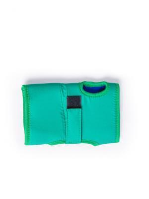 И11731 Повязка на запястье, р-р M, для снятия напряжения в суставах рук SilverStep. Цвет: зеленый