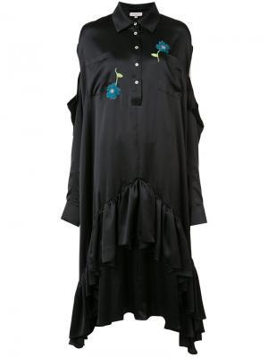 Платье с цветочной вышивкой Natasha Zinko. Цвет: чёрный