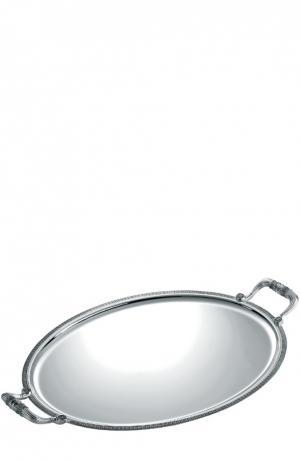 Поднос овальный Malmaison Christofle. Цвет: бесцветный