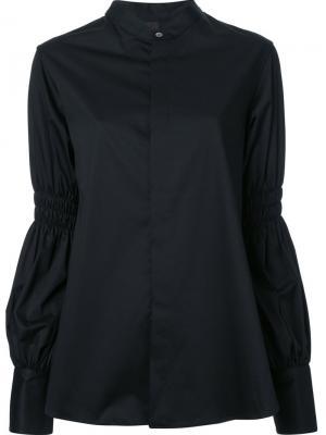 Рубашка со стилизованными рукавами Maison Mihara Yasuhiro. Цвет: чёрный