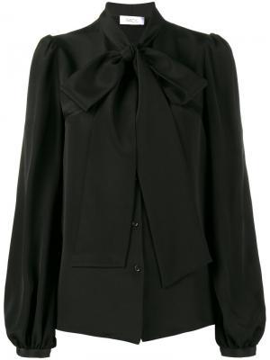 Блузка с воротником-стойкой бантом Racil. Цвет: чёрный