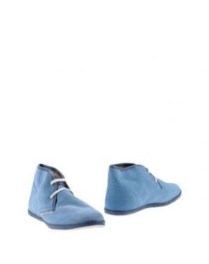 Полусапоги и высокие ботинки LE CROWN. Цвет: небесно-голубой