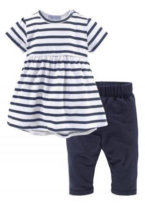 Комплект: платье + легинсы KLITZEKLEIN. Цвет: в полоску