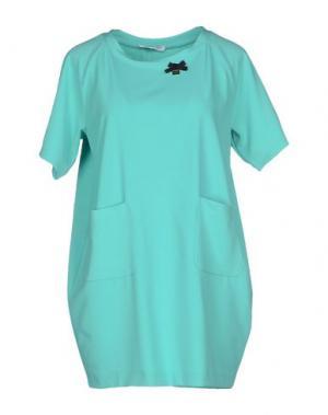 Короткое платье ANGELA MELE MILANO. Цвет: бирюзовый