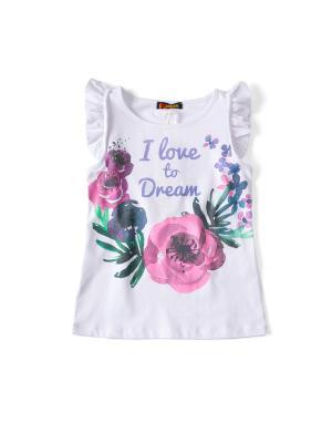 Топ Фиалка I love to dream. Цвет: белый