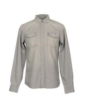 Джинсовая рубашка JACK & JONES. Цвет: серый