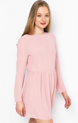 Розовое платье с присборенной юбкой Glamorous. Цвет: розовый