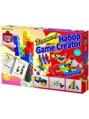 Конструктор-кубики Знаток ARTEC Game Creator 20 логических игр (130дет.). Цвет: красный