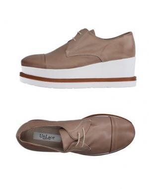 Обувь на шнурках UNLACE. Цвет: голубиный серый