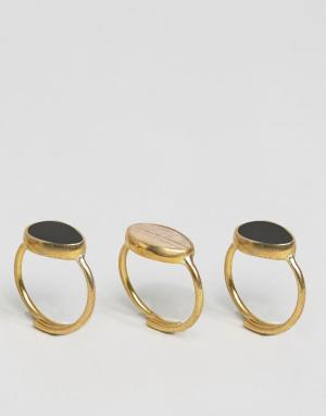 Made Составные кольца Mirage. Цвет: золотой
