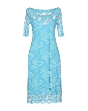 Платье до колена OLVI'S. Цвет: бирюзовый