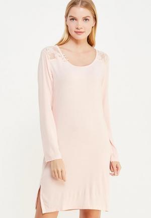 Сорочка ночная Luisa Moretti. Цвет: розовый