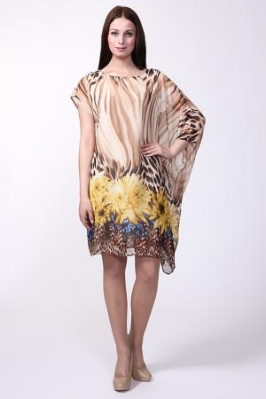 Платье First Orme. Цвет: бежевый, желтый