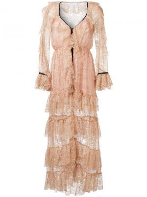 Длинное платье  Rococo Alice Mccall. Цвет: розовый и фиолетовый