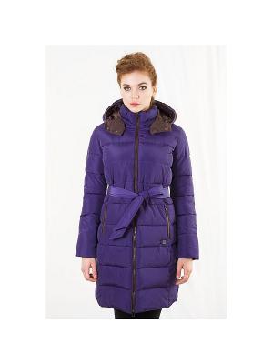 Пальто женское DEFREEZE. Цвет: фиолетовый