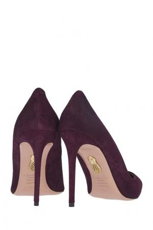 Замшевые туфли Simply Irresistible Pump Aquazzura. Цвет: фиолетовый