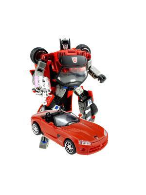 Робот, Трансформер Собирается в Кабриолет XXL Склад Уникальных Товаров. Цвет: красный