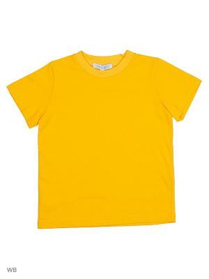 Футболка OFKA. Цвет: желтый