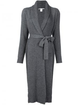 Трикотажное пальто в рубчик Rosetta Getty. Цвет: серый