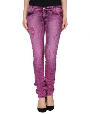Джинсовые брюки KILLAH. Цвет: фуксия