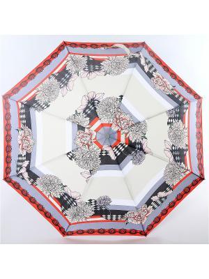 Зонт ArtRain. Цвет: темно-бежевый, красный, кремовый