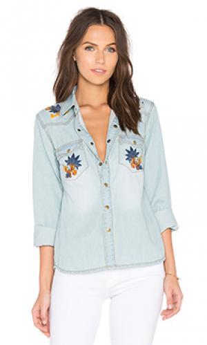 Рубашка с застёжкой на пуговицах desert Deby Debo. Цвет: синий