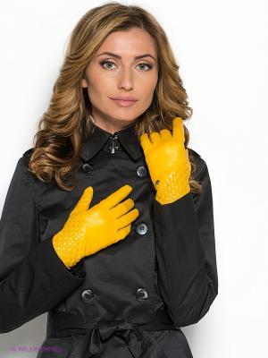 Перчатки Piero. Цвет: горчичный