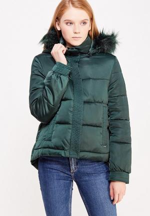 Куртка утепленная Guess Jeans. Цвет: зеленый