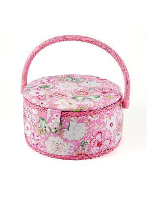 Шкатулка для рукоделия Сундучок Русские подарки. Цвет: розовый