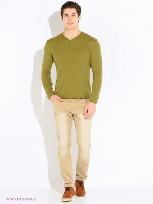 Пуловер United Colors of Benetton. Цвет: оливковый, бронзовый, темно-коричневый