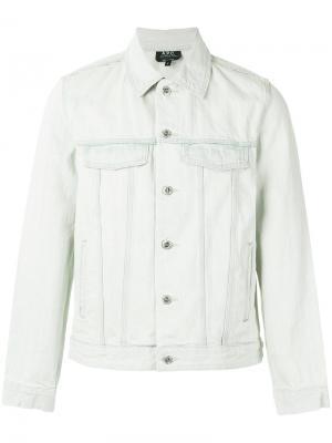 Flap pockets denim jacket A.P.C.. Цвет: телесный