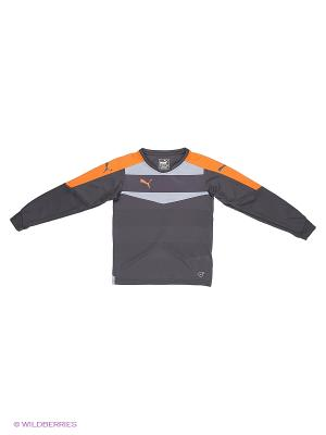 Лонгслив Stadium GK Shirt ebony-nasturt Puma. Цвет: черный