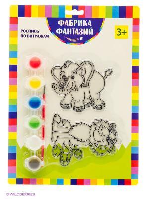 Н-р для росписи витража Слон и тигр Фабрика Фантазий. Цвет: зеленый