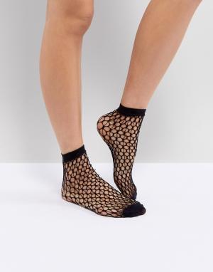 Jonathan Aston Сетчатые носки. Цвет: черный