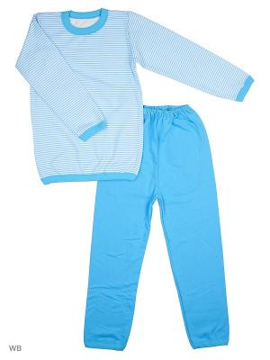 Пижамы Flip. Цвет: голубой, белый