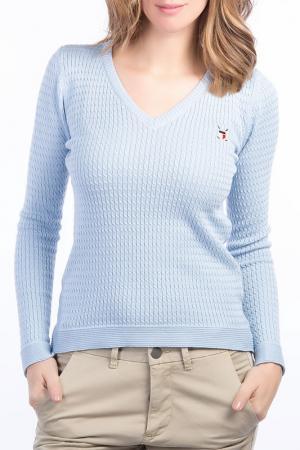 Пуловер POLO CLUB С.H.A.. Цвет: голубой