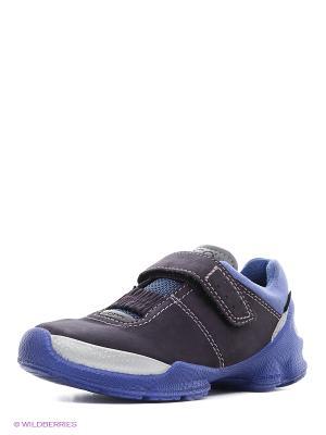 Кроссовки ECCO. Цвет: темно-фиолетовый, голубой