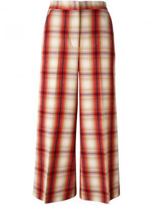 Укороченные брюки MSGM. Цвет: красный